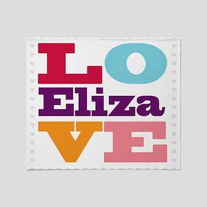 I Love Eliza Throw Blanket