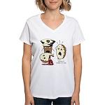 Donut Homicide Women's V-Neck T-Shirt