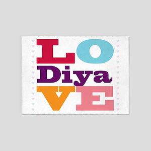 I Love Diya 5'x7'Area Rug