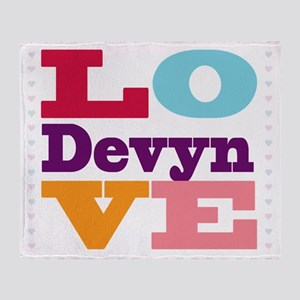 I Love Devyn Throw Blanket