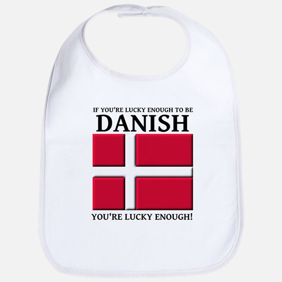Lucky Enough To Be Danish Dansk Shirt Bib
