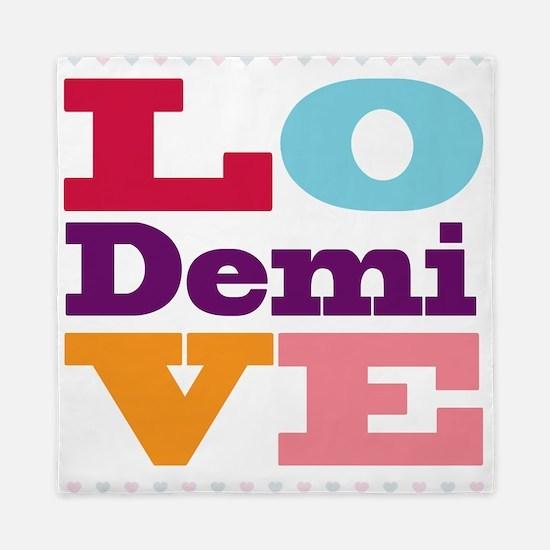 I Love Demi Queen Duvet