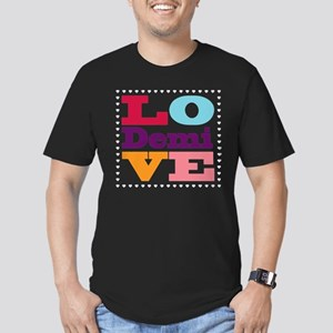 I Love Demi Men's Fitted T-Shirt (dark)