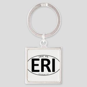 Oval ERI Square Keychain