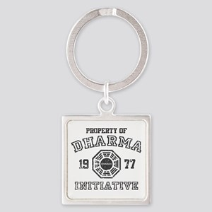 Property of Dharma Distresses Square Keychain