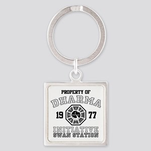 Property of Dharma - Swan Square Keychain