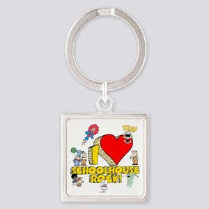 I Heart Schoolhouse Rock! Square Keychain