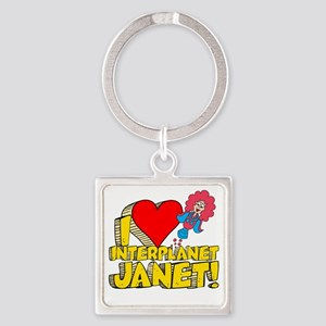 I Heart Interplanet Janet! Square Keychain
