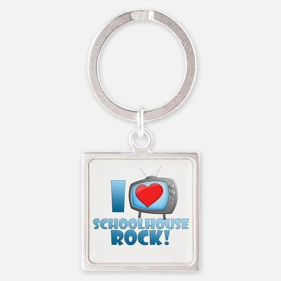 I Heart Schoolhouse Rock Square Keychain