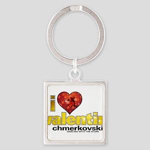 I Heart Valentin Chmerkovskiy Square Keychain