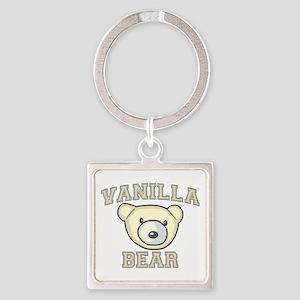 Vanilla Bear Square Keychain