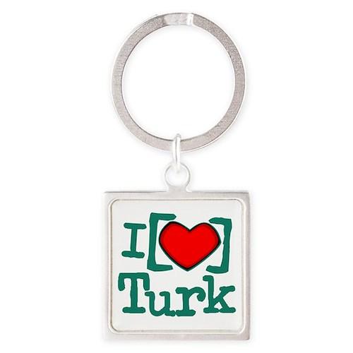 I Heart Turk Square Keychain