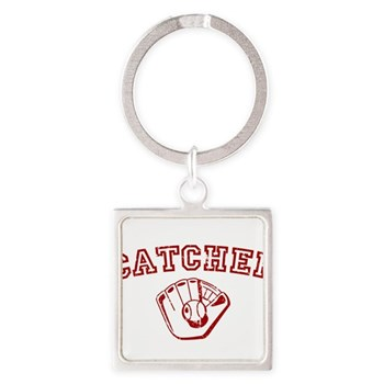 Catcher - Red Square Keychain