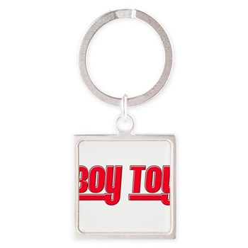 Boy Toy - Red Square Keychain