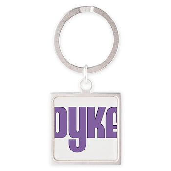 Purple Dyke Square Keychain