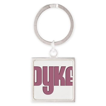 Pink Dyke Square Keychain