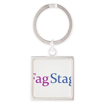 Fag Stag Square Keychain