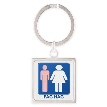 FAG HAG Sign Square Keychain