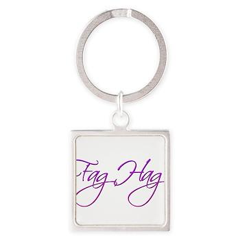 Fag Hag Square Keychain
