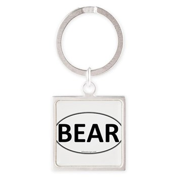BEAR Euro Oval Square Keychain
