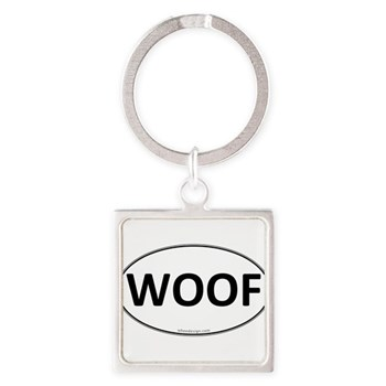 WOOF Euro Oval Square Keychain