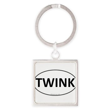 TWINK Euro Oval Square Keychain