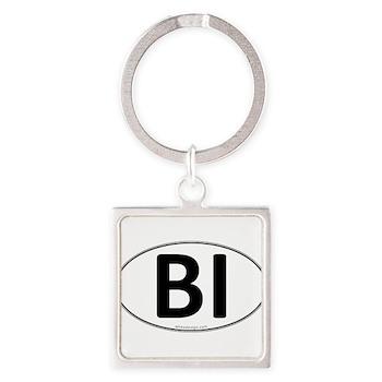 BI Euro Oval Square Keychain