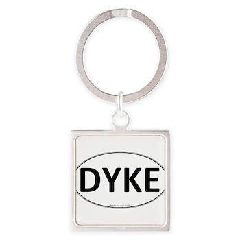 DYKE Euro Oval Square Keychain