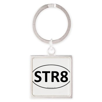 STR8 Euro Oval Square Keychain