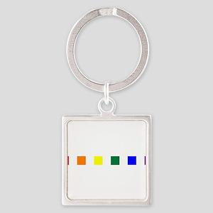 Rainbow Pride Squares Square Keychain