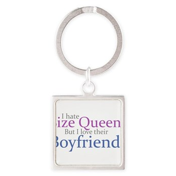 I Hate Size Queens Square Keychain
