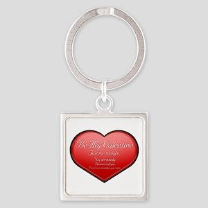 One Night Valentine Square Keychain
