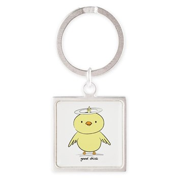 Good Chick Square Keychain