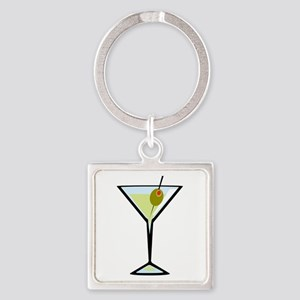 Dirty Martini Square Keychain
