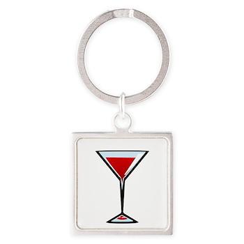 Vampire Martini Square Keychain
