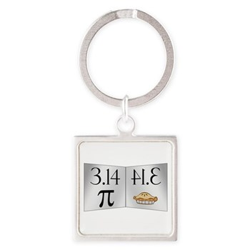 PI 3.14 Reflected as PIE Square Keychain