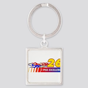 I Piss Excellence Square Keychain