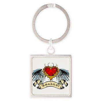 Really? Winged Heart Square Keychain