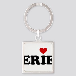 Erie with Heart Square Keychain