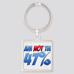I Am NOT the 47% Square Keychain