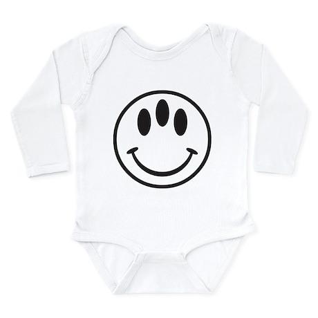 Third Eye Smiley Long Sleeve Infant Bodysuit