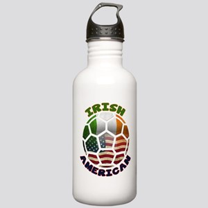 Irish American Soccer Fan Stainless Water Bottle 1