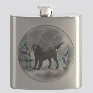 Flat-Coated Retriever Christmas Flask