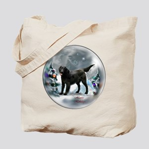 Flat-Coated Retriever Christmas Tote Bag