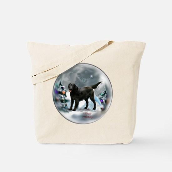 Flat-Coated Retriever Christmas Tote Bag