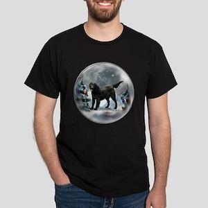 Flat-Coated Retriever Christmas Dark T-Shirt
