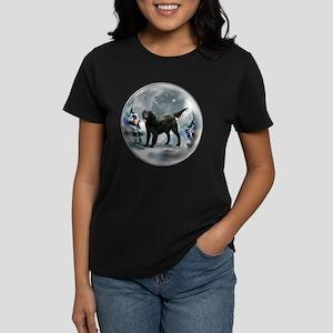 Flat-Coated Retriever Christm Women's Dark T-Shirt