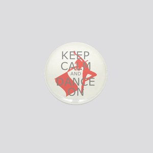 Colorguard Keep Calm and Dance On Meme Mini Button