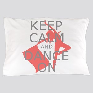 Colorguard Keep Calm and Dance On Meme Pillow Case