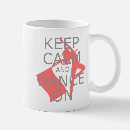 Colorguard Keep Calm and Dance On Meme Mug